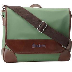 Robert Graham Green Nylon Messenger Bag NWT
